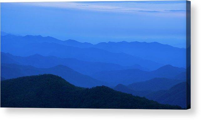Blue Ridge Mountains Acrylic Print featuring the photograph Blue Ridge Panorama by Andrew Soundarajan