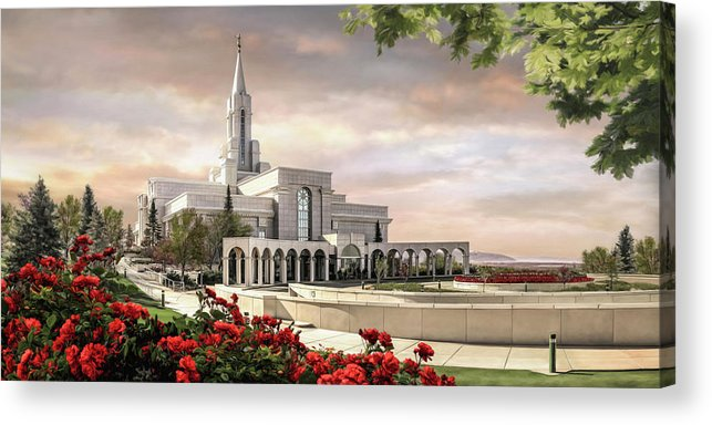 Bountiful Acrylic Print featuring the painting Bountiful Temple by Brent Borup