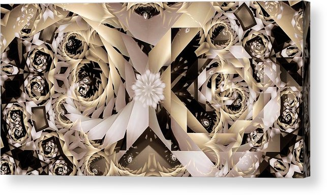 Abstract Acrylic Print featuring the digital art Linen and Silk by Ron Bissett