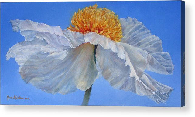 Floral Painting Acrylic Print featuring the painting Matilla 2 by Muriel Dolemieux