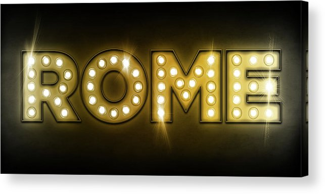 Rome Acrylic Print featuring the digital art Rome in Lights by Michael Tompsett