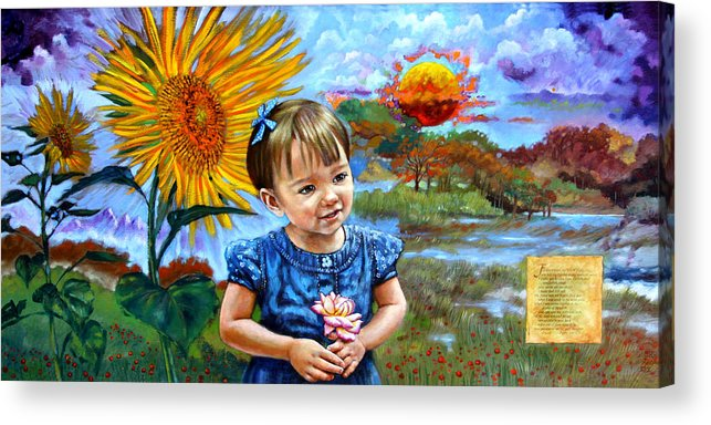 Little Girl Acrylic Print featuring the painting Sierra Rose by John Lautermilch