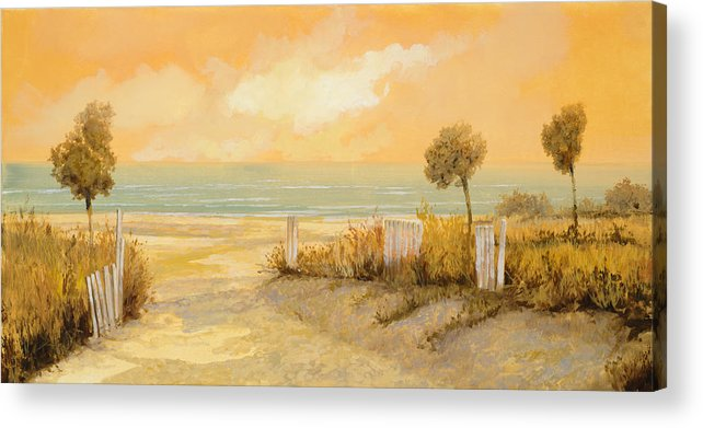 Beach Acrylic Print featuring the painting Verso La Spiaggia by Guido Borelli