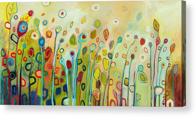 Floral Acrylic Print featuring the painting Within by Jennifer Lommers