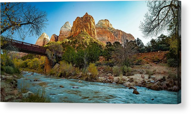 Watchman Acrylic Print featuring the photograph Zion National Park 4 by Tom Clark