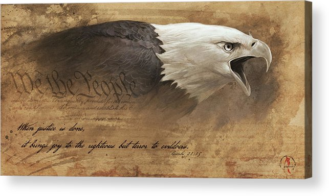 Eagle Acrylic Print featuring the digital art Joy of the Righteous by Steve Goad