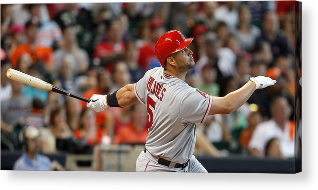 American League Baseball Acrylic Print featuring the photograph Albert Pujols by Bob Levey