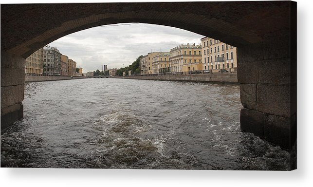 Arch Acrylic Print featuring the photograph Bridge across the Fontanka River by Fotosearch
