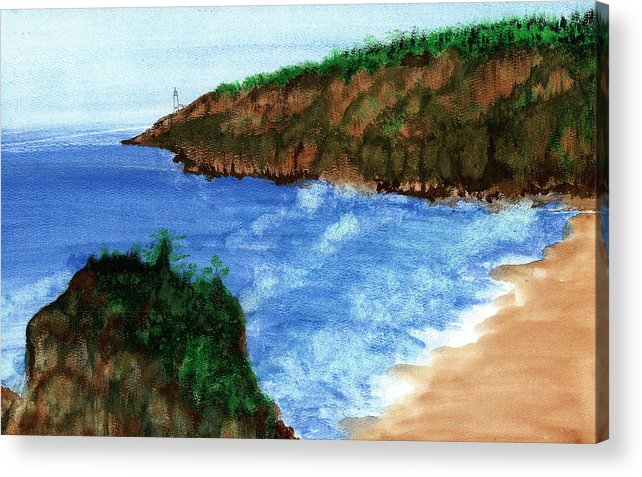 Acrylic Print featuring the painting Solitude by Harry Richards