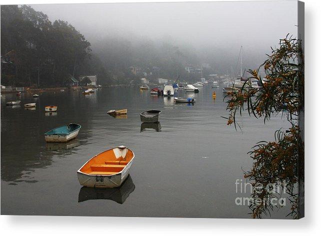 Mist Acrylic Print featuring the photograph Careel Bay mist by Sheila Smart Fine Art Photography