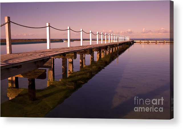 Narrabeen Sydney Sunrise Wharf Walkway Acrylic Print featuring the photograph Narrabeen sunrise by Sheila Smart Fine Art Photography