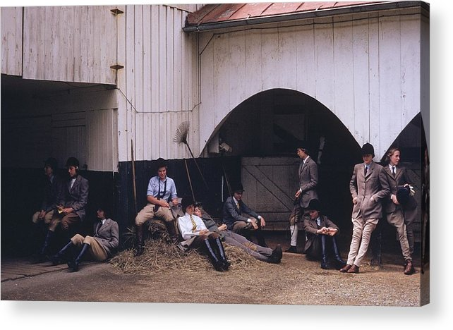 Horse Acrylic Print featuring the photograph School Riding by Slim Aarons