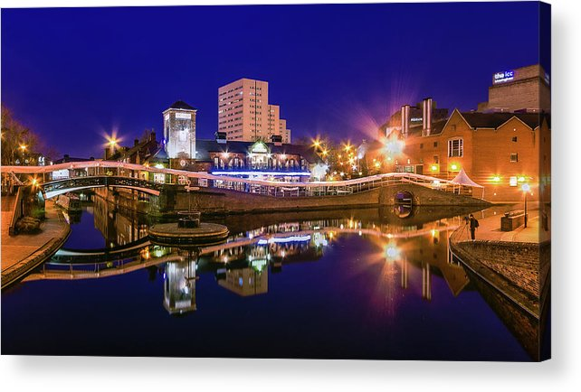 Birmingham Acrylic Print featuring the photograph Blue Hour In Birmingham by Fiona Mcallister Photography