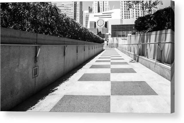 Built Structure Acrylic Print featuring the photograph Empty Footpath Leading Towards Buildings On Sunny Day by Jesse Coleman / EyeEm