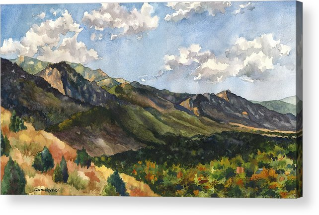 Colorado Front Range Painting Acrylic Print featuring the painting October Shadows by Anne Gifford