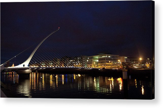 Dublin Acrylic Print featuring the photograph Sean Ocasey Bridge, Dublin by Leverstock
