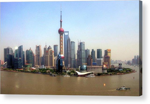 Outdoors Acrylic Print featuring the photograph Shanghai Skyline by Mariusz Kluzniak