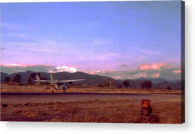 Vietnam Acrylic Print featuring the photograph Spotter Plane by Norman Johnson