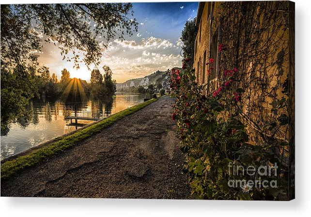 Sunset Acrylic Print featuring the photograph Sunset at Les Andelys by Sheila Smart Fine Art Photography
