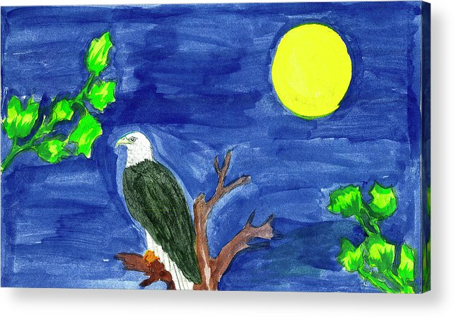 Acrylic Print featuring the painting Eagle by Harry Richards