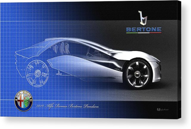 Wheels Of Fortune By Serge Averbukh Acrylic Print featuring the photograph Alfa Romeo Bertone Pandion Concept by Serge Averbukh