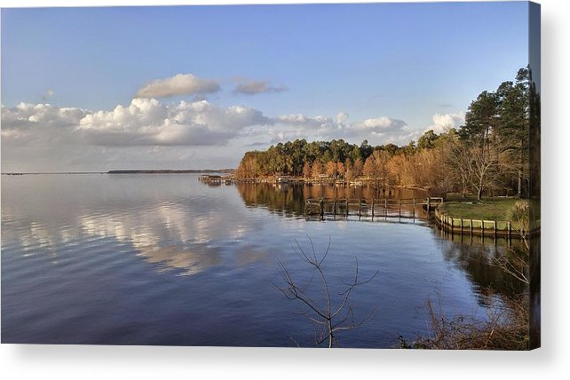 Lake Acrylic Print featuring the photograph Calm Lake Marion by Noel Adams