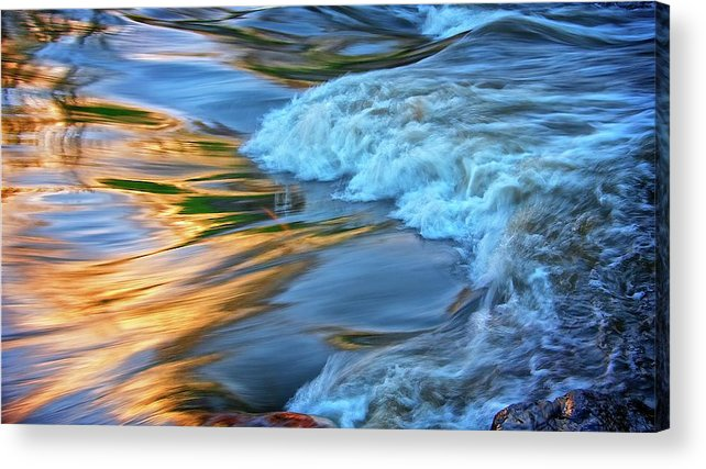 Nature Acrylic Print featuring the photograph Cool Liquid Gold by Zayne Diamond Photographic