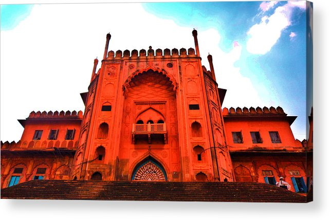 Architecture Acrylic Print featuring the photograph #entrance Gate by Aakash Pandit