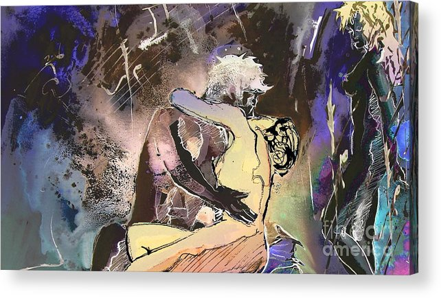 Miki Acrylic Print featuring the painting Eroscape 09 2 by Miki De Goodaboom