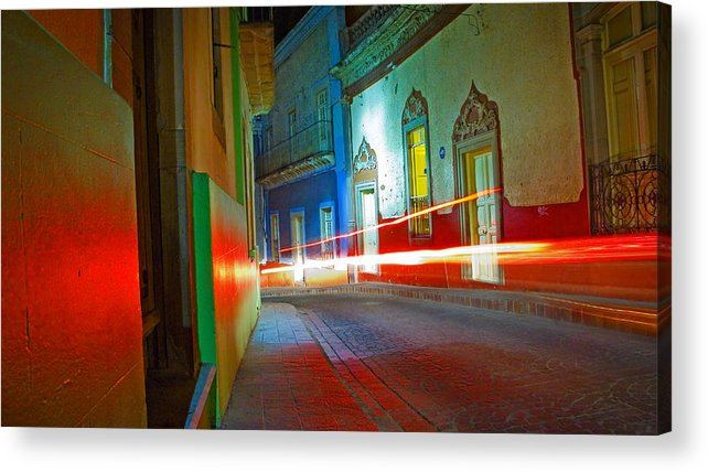 Shadow Acrylic Print featuring the photograph Guanajuato Night by Skip Hunt