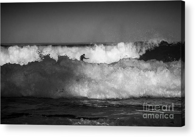 Heavy Surf Acrylic Print featuring the photograph Heavy surf at Avalon Beach by Sheila Smart Fine Art Photography