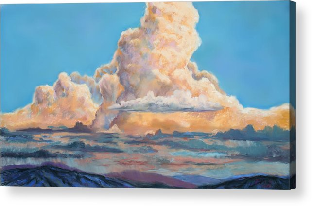 Mountians Acrylic Print featuring the painting His Majesty by Billie Colson