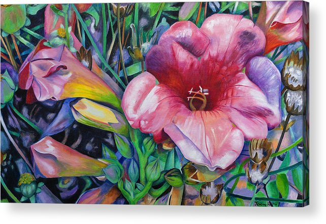 Flowers Acrylic Print featuring the painting Fragrant blooms by Jeremy Holton