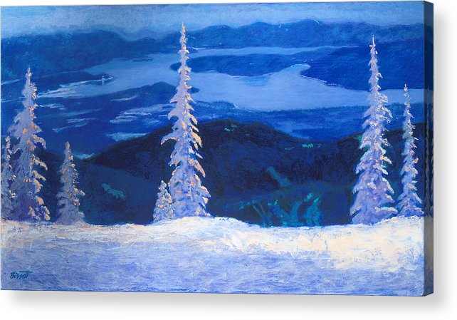 Schweitzer Acrylic Print featuring the painting Lakeview by Robert Bissett