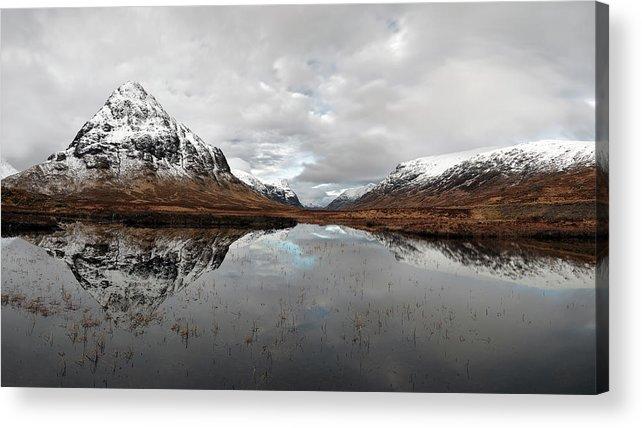 Lochan Na Fola Panorama Acrylic Print featuring the photograph Lochan Na Fola Panorama by Grant Glendinning