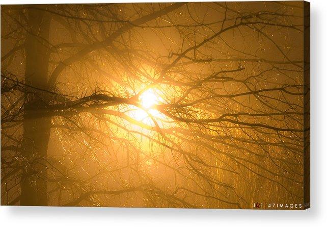 Light Acrylic Print featuring the photograph Misty Night by Jonathan Ellis Keys