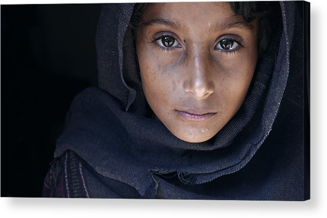 Street Acrylic Print featuring the photograph Natayah - A Girl From Nepal by Mohammed Baqer