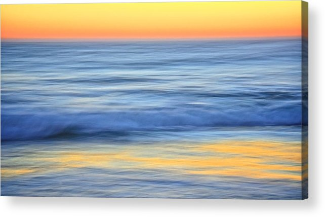 Nature Acrylic Print featuring the photograph Reflection Gold by Zayne Diamond Photographic