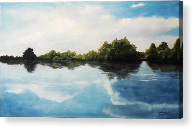 Landscape Acrylic Print featuring the painting River of Dreams by Darko Topalski