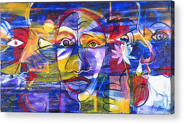 Love Acrylic Print featuring the painting Speak To Me Baby... by Rollin Kocsis