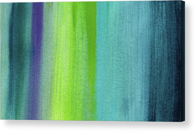 Abstract Acrylic Print featuring the painting Vishnu- Art by Linda Woods by Linda Woods