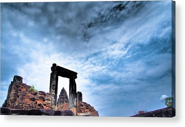 Cambodian Culture Acrylic Print featuring the photograph Angkor by Cjfan
