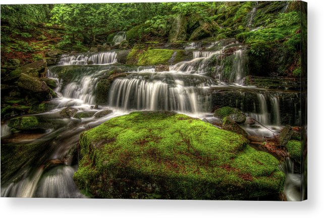 Scenics Acrylic Print featuring the photograph Catskill Waterfall by Kevin A Scherer