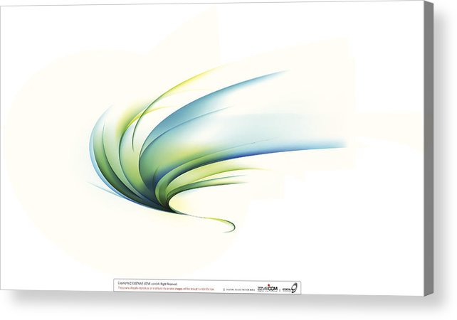 Curve Acrylic Print featuring the digital art Curved Shape On White Background by Eastnine Inc.