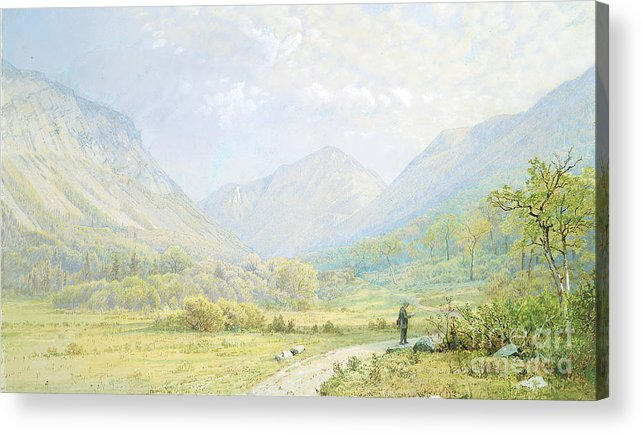 Gouache Acrylic Print featuring the drawing Franconia Notch by Heritage Images