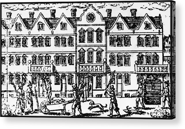 Row House Acrylic Print featuring the photograph Great Plague Of London by Hulton Archive