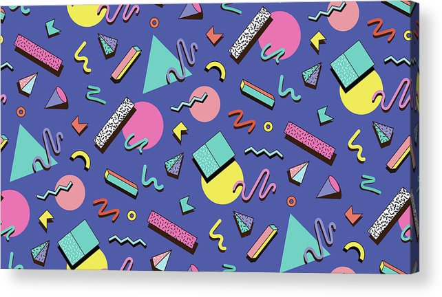 Cool Attitude Acrylic Print featuring the digital art Illustration For Hipsters Style by Fighter francevna