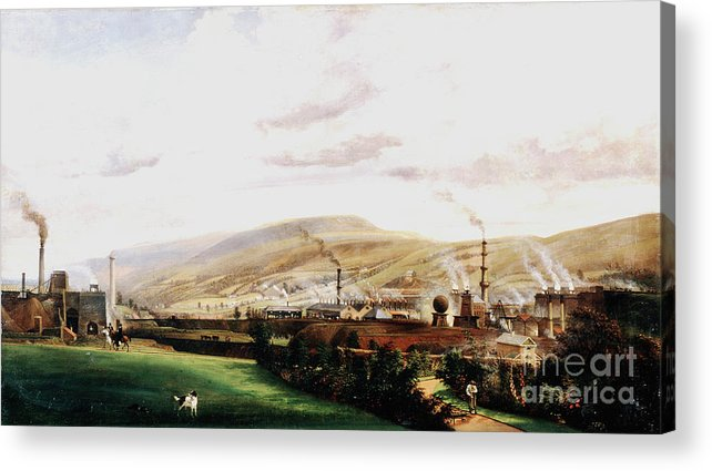 Event Acrylic Print featuring the drawing Industrial Landscape, Wales, 19th by Print Collector