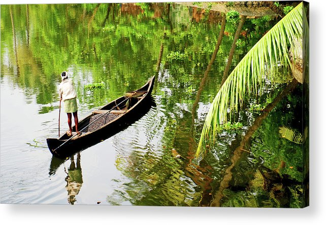 Scenics Acrylic Print featuring the photograph Kerala Backwaters by Gopan G Nair