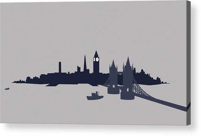 Part Of A Series Acrylic Print featuring the digital art London, Great Britain by Ralf Hiemisch